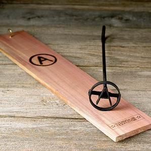 Blacksmith Circle Branding Iron - Personalized with the letter of your choice!