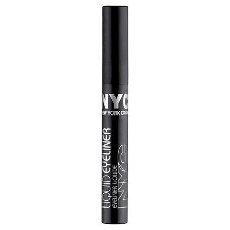 NYC Liquid Eye Liner : It doesn't flake or smear. Super pigmented and dries pretty matte.