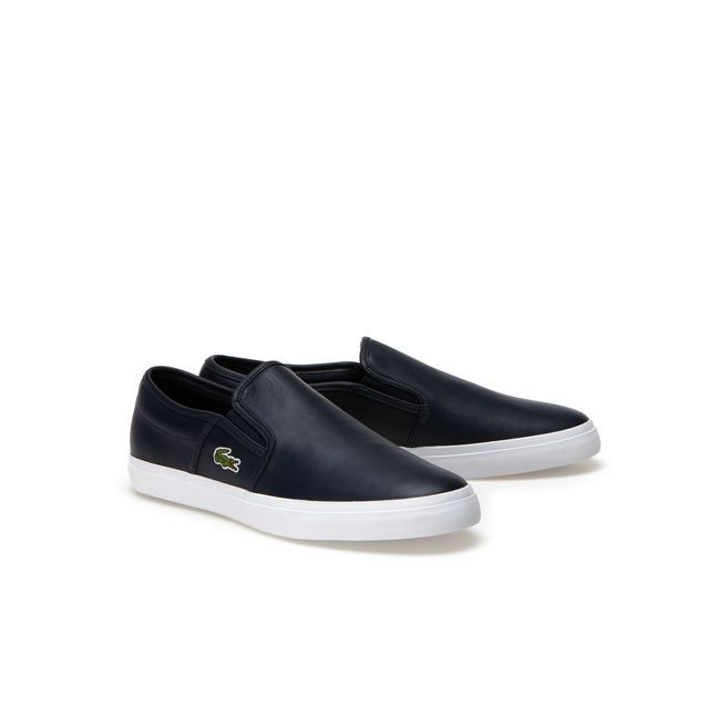 Subtle details such as the concealed elastic bands on these leather slip-ons put a smile on your face. Casual, urban style that will get you noticed.