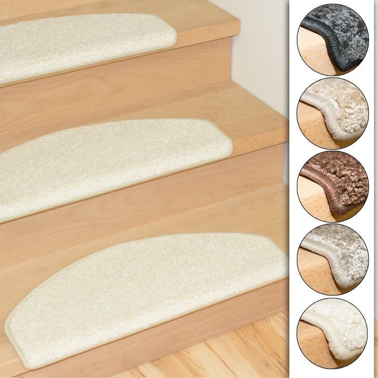 Set of 15 stair mats shaggy 5 colors  in Home, Furniture & DIY, Rugs & Carpets, Stair Treads | eBay