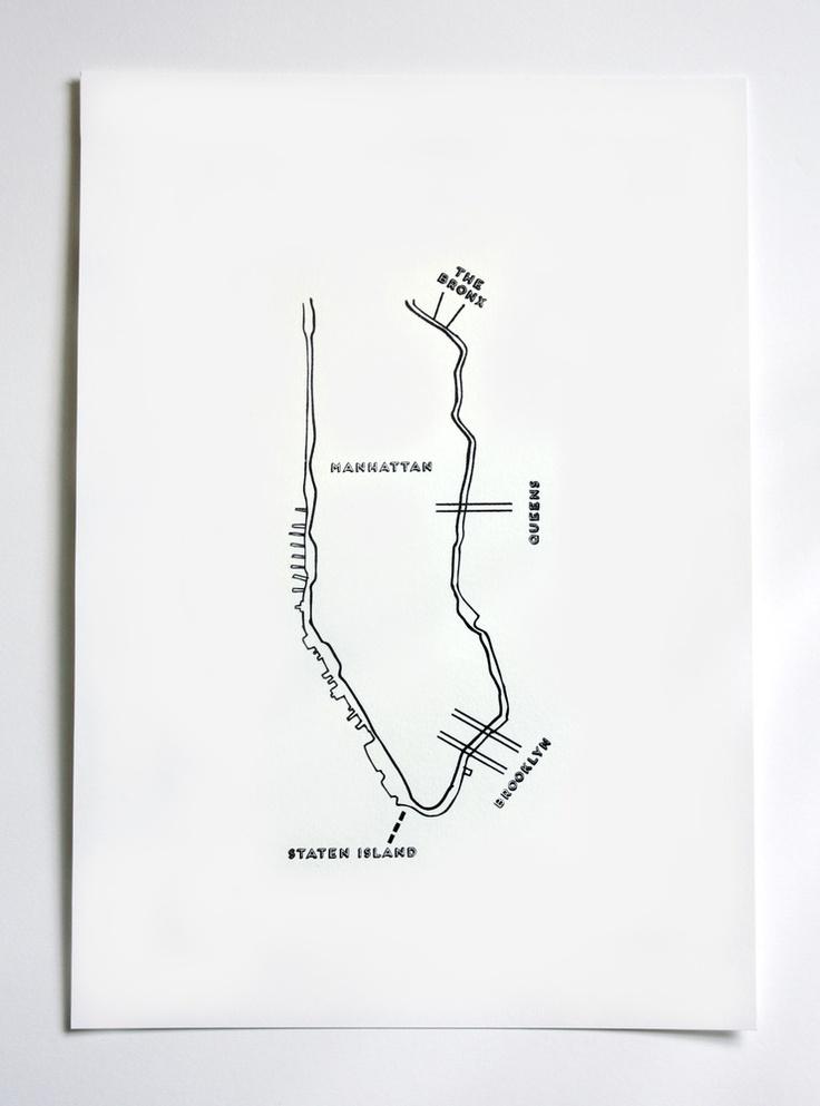 hey jo! design / map of nyc