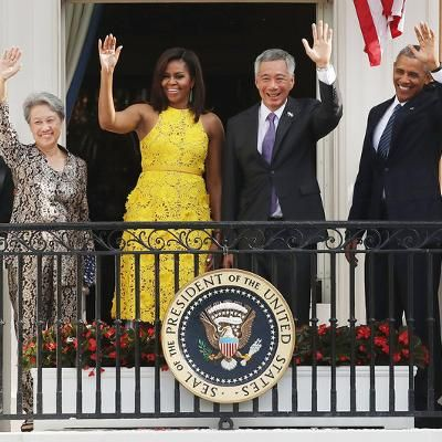 Michelle Obama Glows in a Sunny Yellow Dress at the White House