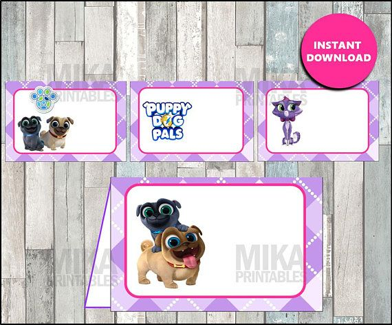 Puppy Dog Pals Food Labels Instant Download Puppy Dog Pals Food