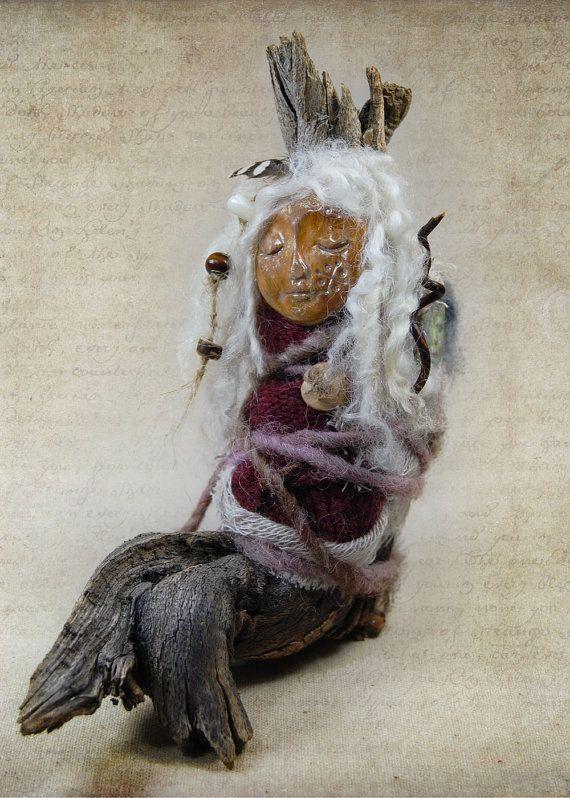 Inara  Dream Doll  Spirit Doll  Assemblage Doll by wildlywhimsical