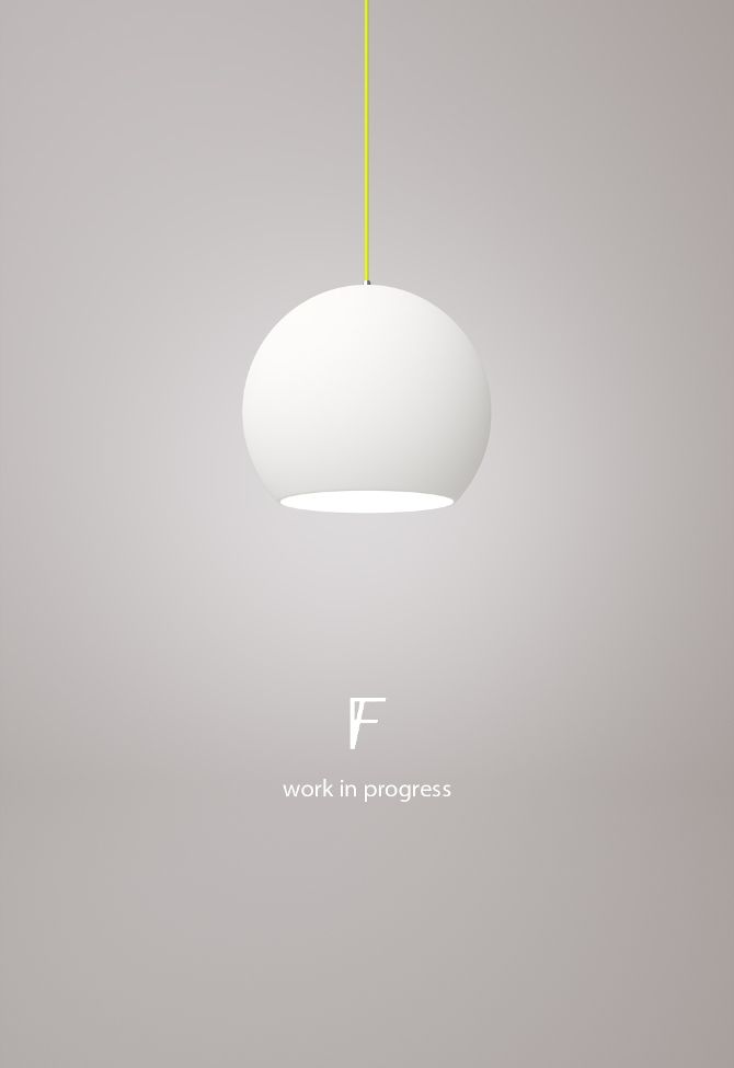 Pendant lamp, body handmade in acrylic with neon textile cable.  Design: Carolina Comsa / Form Function