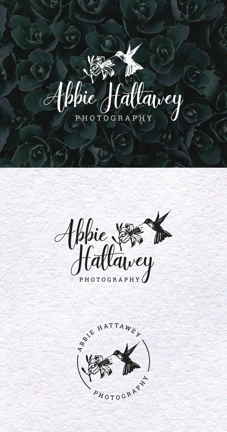 Artisan Bird Logo Kit Hand drawn Floral Logo Wedding
