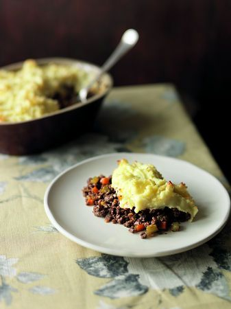 "St. Patrick's Day Recipe: Roasted Garlic Cottage Pie, a take on Shepherd's Pie. The recipe comes from ""Modern Irish Food"" by Kevin Dundon #Irish"