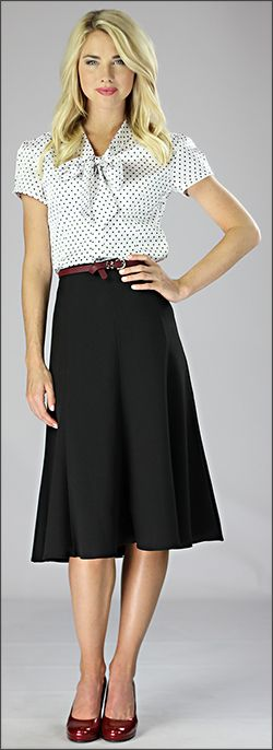 Woven Mid Length Skirt [W2404] - $39.99 : Mikarose Fashion, Reinventing Modest Fashion