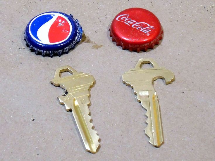 How to make bottle openers from keys. This is a good idea with tailgating season upon us.