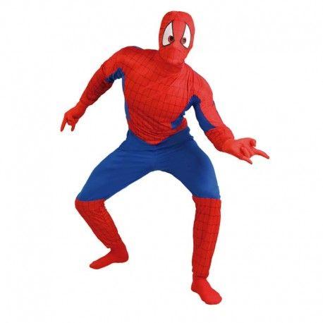 Disfraces Personajes hombre | Disfraz de hombre Spiderman. Súbete por las paredes y dispara tu tela de araña emulando al famoso super héroe.Contiene body de cuerpo entero y máscara. Talla M/L. 18,95€ #spiderman #hombrearaña #disfrazspiderman #disfraz #superheroe #disfrazpersonaje #disfraces