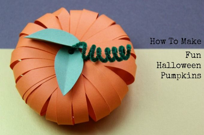 Make paper pumpkins this Halloween! Fill with sweets or spooky treats for a great pumpkin party favour or place setting that everyone will love.