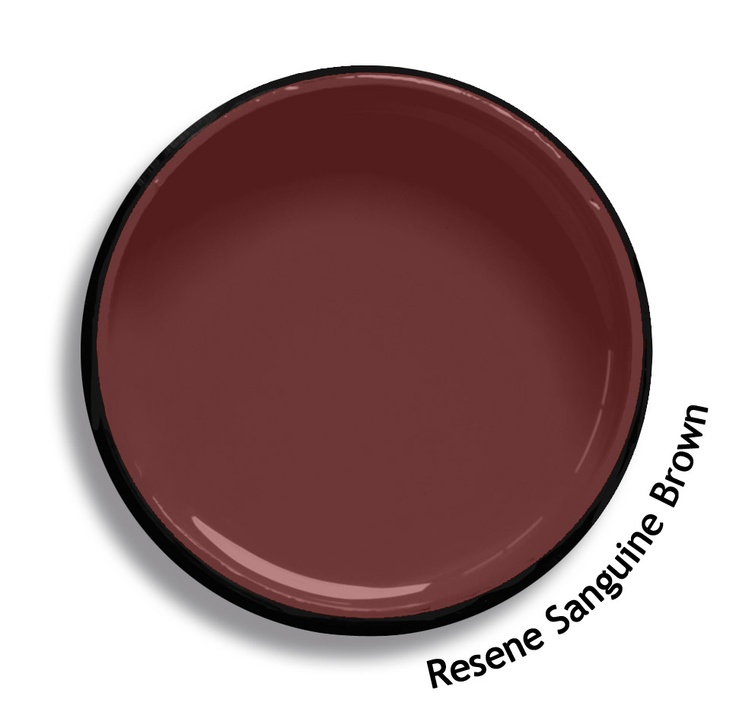 Resene Sanguine Brown is an optimistic soft earth red, nearly brown. From the Resene Karen Walker Paints colour range. Try a Resene testpot or view a physical sample at your Resene ColorShop or Reseller before making your final colour choice. www.resene.co.nz/karenwalker.htm