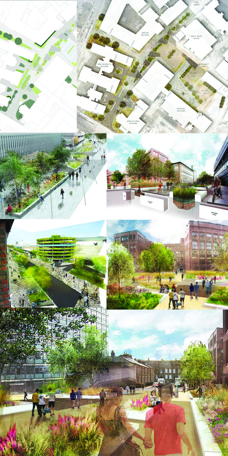 #AUS201718 #GroupC (0) University Campus (1) oobe (2) Newcastle upon-Tyne, Great Britain (3) In realization since 2015 (4) No data found (5) Renovation of the university in order to create high quality campus environment with a recognisable personality. Sustainable approach to public green spaces, pedestrian focused area, reduction of vehicular dominance, multi-functional environment, respect for various aspects of student life  (6)…