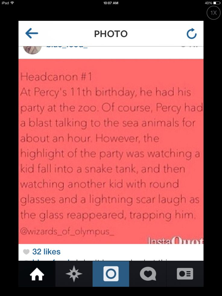 Hahaha this would be hilarious! Buuuut... He lives in Ney York and Harry in London... Also (not to criticize because I do love this) Harry is older than Percy. He was around 17 when Percy was born....