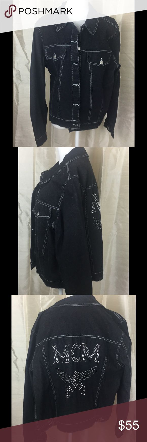 "🆕Listing. MCM Designer Denim Jacket Sz XL Check out this MCM denim jacket.  Size XS. Arm to arm 20"". Waist 18"". Length 22"". In good condition. MCM Jackets & Coats Jean Jackets"