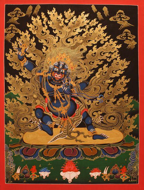 唐 卡, Thangka Vajrapani