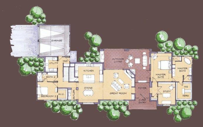Best 25 unique floor plans ideas on pinterest unique for Mid century modern home floor plans