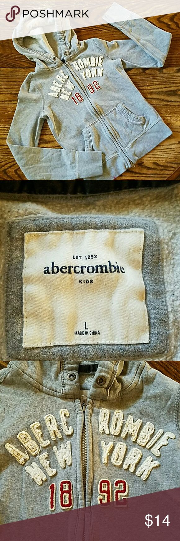 Abercrombie New York Kids warm hoodie.  Missing tie from hood, price reflects. abercrombie kids Shirts & Tops Sweatshirts & Hoodies