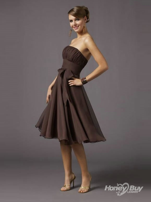 Beautiful Brown Bridesmaids Dress Love Pinterest Wedding Winter Bridesmaid Dresses And