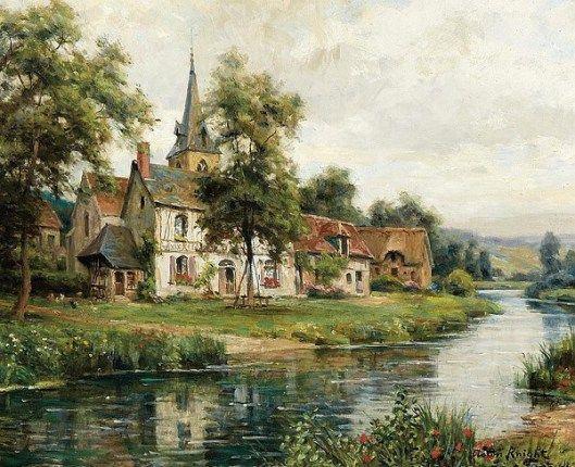 The Village Of Saint Gertrude - St. Gertrude Church - Louis Aston Knight (1873 – 1948)