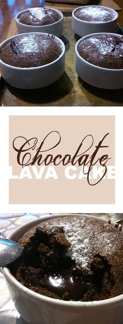 Easy chocolate lava cake prepared and served in a mug.