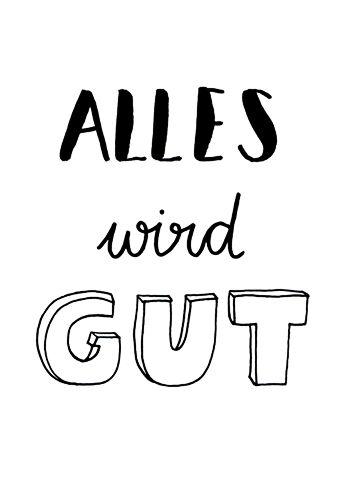 Alles wird gut. // Handlettering by www.luloveshandmade.com