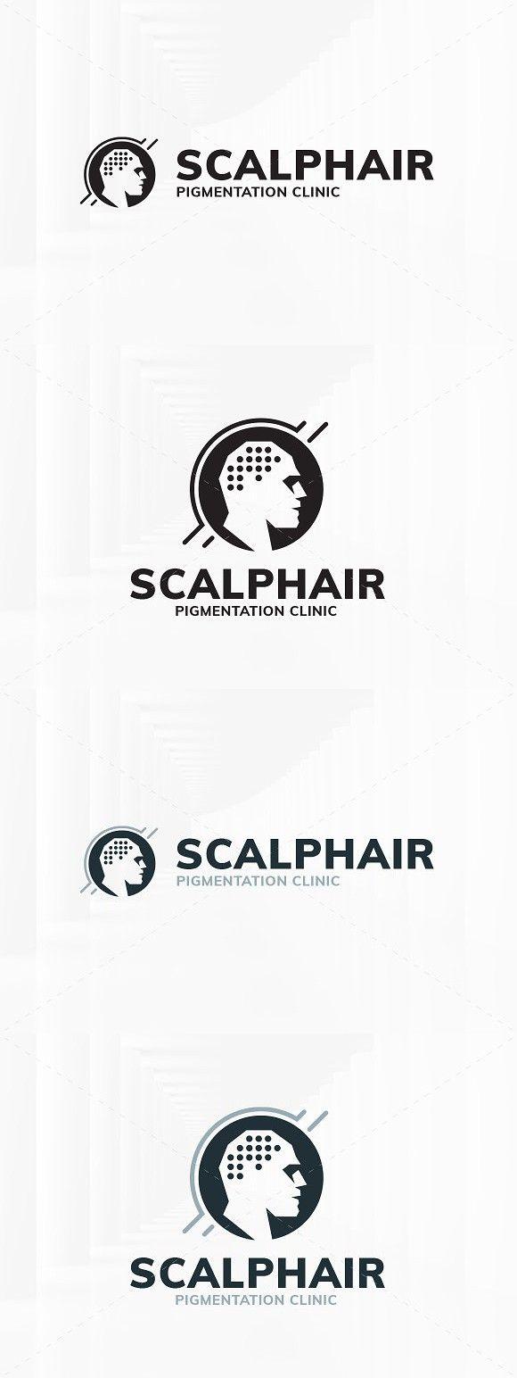Scalp Hair Logo Template. Branding