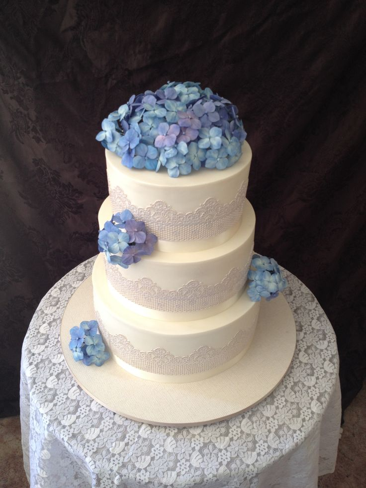 Sugar Hydrangeas and edible lace