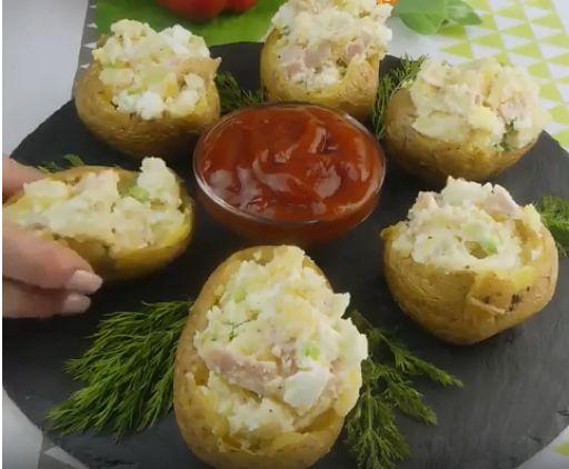 Сытный фаршированный картофель! Вкуснофакты! | Поварешка | Яндекс Дзен