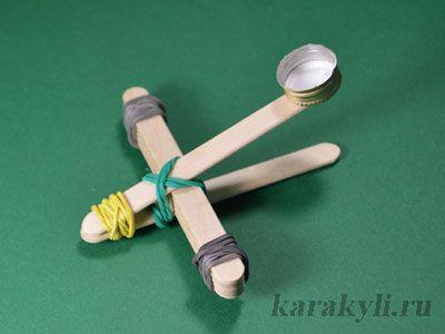 Детская катапульта из палочек от мороженого | КАРАКУЛИ