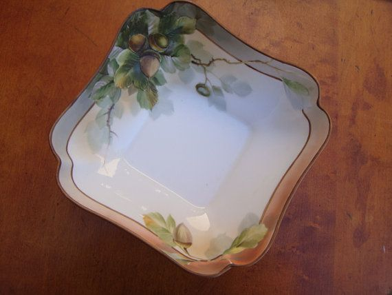 Hand Painted Nippon China with Acorns & Oak Leaves | Hands ...
