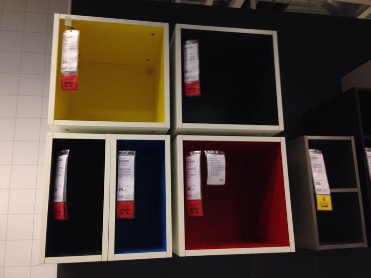 Ikea - Colourful shelves
