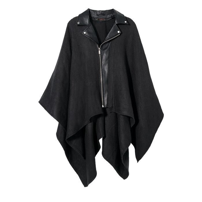 #mark. By #Avon Biker Chic #Moto #Poncho The illusion of layers make this a poncho with edge and the perfect combination of cozy and cool. Reg. $46. Sizes XS/S & M/L. Shop online with FREE shipping with any $40 online Avon and Mark purchase. #CJTeam #C2 #Style #Sale #FashionTrend #New #Avon4Me #Teen #Trending #BikerChic Shop Avon and Mark #fashion online @ www.TheCJTeam.com.
