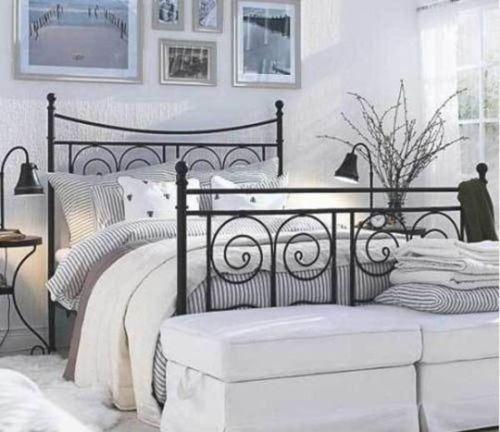 25 best ideas about black metal bed frame on pinterest vintage bed frame bedroom paint - Discontinued ikea beds ...