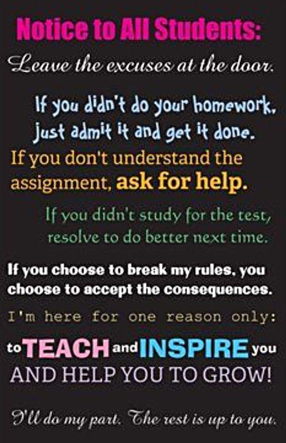 No homework? Stop making excuses. Put in the effort.