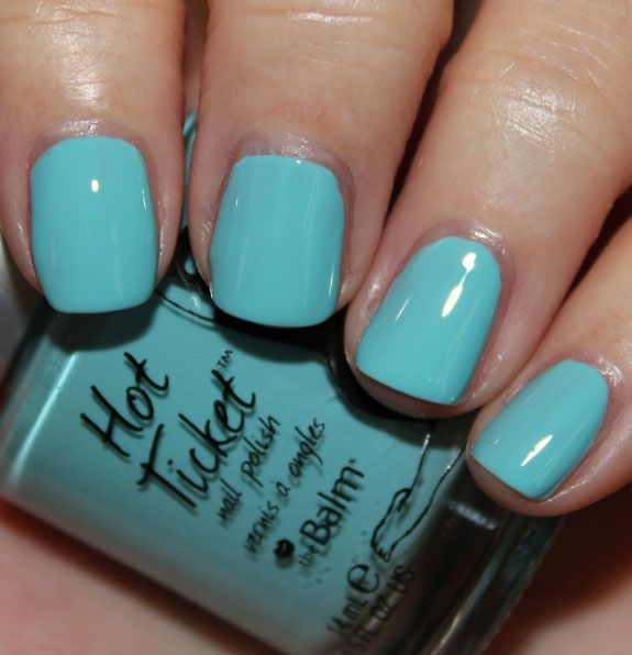 TheBalm Sky Blue Right Past You.jpg: Sky Blue, Nails Colors, Blue Teal Nails, Theblam Hotticket, Balm Sky, Nails Polish, And Another Blue, Skybluerightpastyou Blue Teal, Hot Ticket