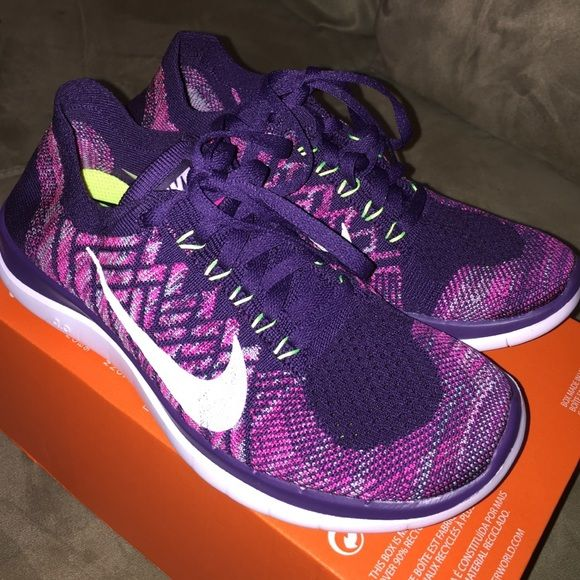 Brand New Womans Nike Free 4.0 Flyknit Brand New Womans Nike Free 4.0 Flyknit. Size 6.5. Color: Grand purple/white-pink foil Nike Shoes Athletic Shoes
