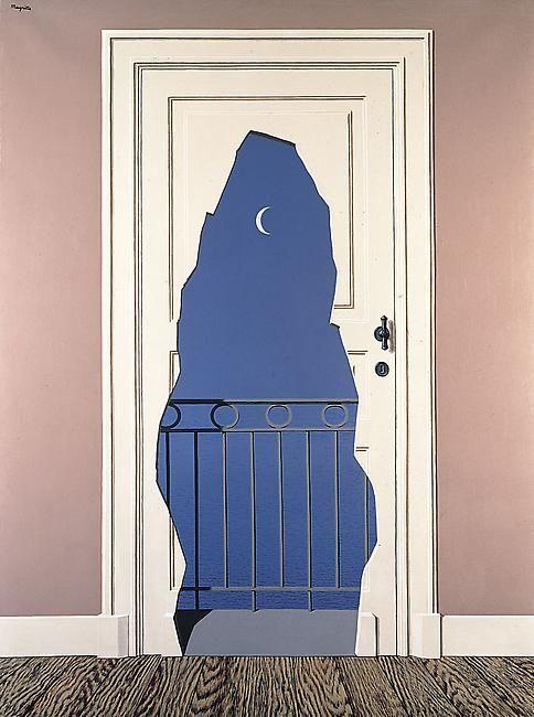 René Magritte   Belgian, b.1898  L'acte de foie, 1960.  Oil on canvas