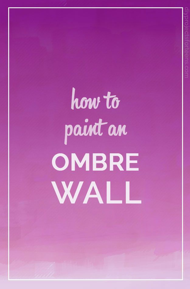how to paint an ombre wall cool diy projects ombre and how to paint. Black Bedroom Furniture Sets. Home Design Ideas