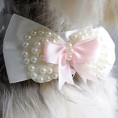Sweet+Style+Pearl+Bowknot+Collar+for+Pets+Dogs+-+USD+$+6.29