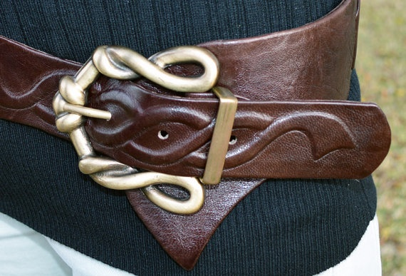 Handmade one of a kind leather belt for women by IsraelLeather, $159.00
