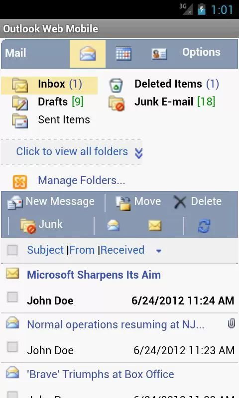 Outlook Web Mobile (OWA EMail) v2.83 Requirements: 2.2+ Overview: Outlook Web Mobile let you use Microsoft Exchange 2007 Outlook Web Access (OWA) or 2010 / 2013 Outlook Web App in a smart phone friendly layout, with Auto Login and Email / Meeting Notification.