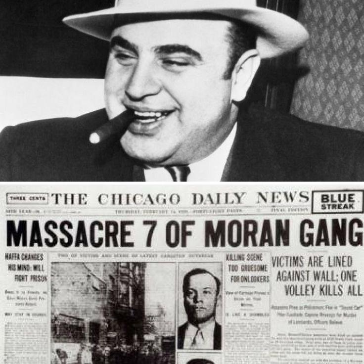 """14 febbraio 1929 - La strage di San Valentino Con questo nome è passato alla storia uno dei più cruenti regolamenti di conti della storia della malavita americana, in una Chicago sconvolta dalla guerra tra le bande rivali di Al capone e di George """"Bugsy"""" Moran per il controllo della città e il mercato illegale degli alcolici nell'era del proibizionismo.   Cinque uomini della banda di Al Capone travestiti da poliziotti sorprendono sette appartenenti alla cosca rivale di """"Bugsy"""" Moran e con…"""