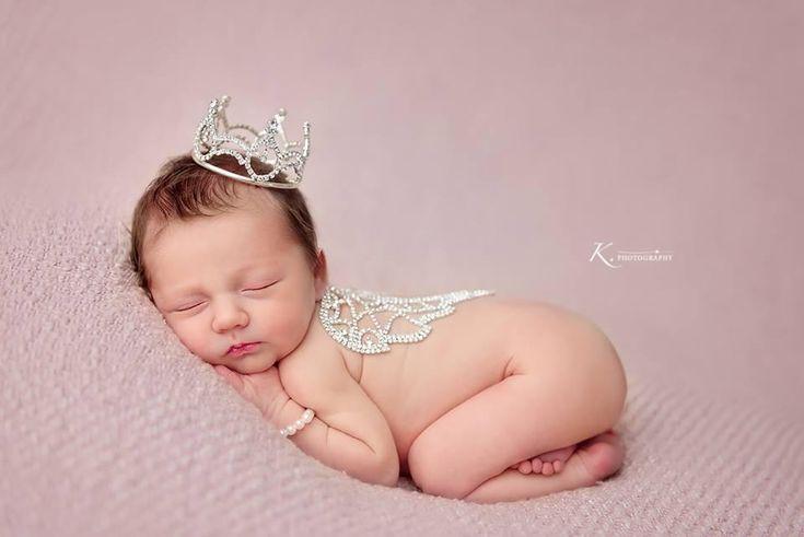 Sophia Princess Rhinestone Crown • Newborn Crown • Photo Prop • Gold • Silver | READY TO SHIP • by Sew Trendy