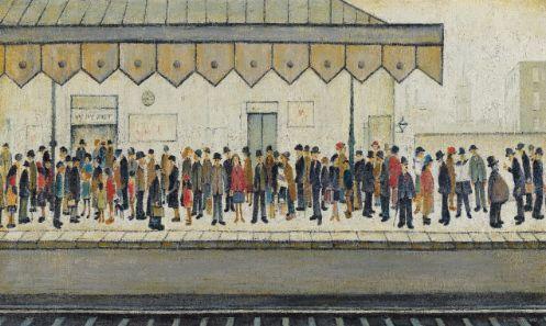 LS Lowry - Railway Platform 1953 - original painting