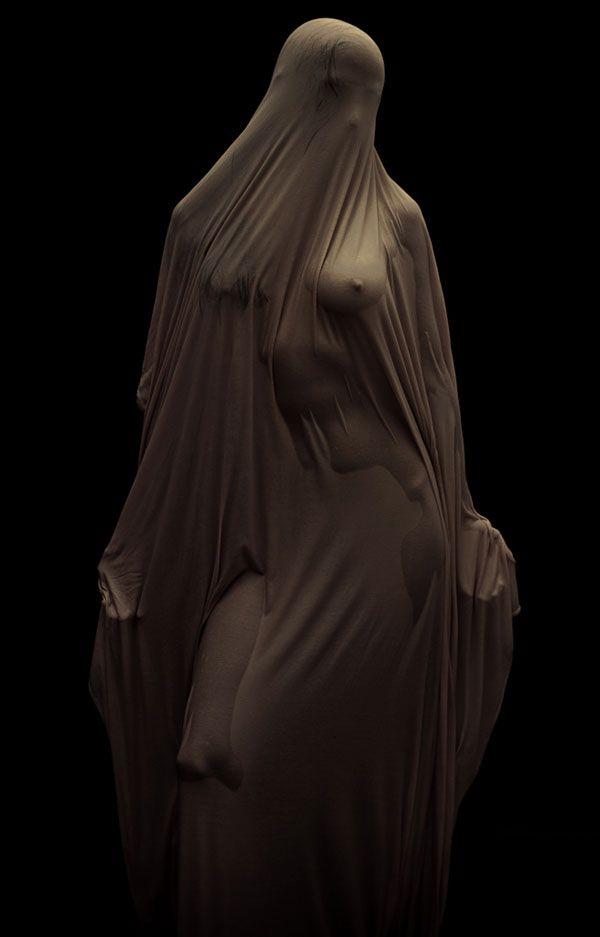 veiled #water #statue #veil