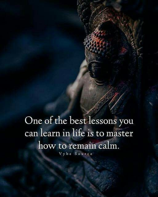 Mastering the power of calm is everything!
