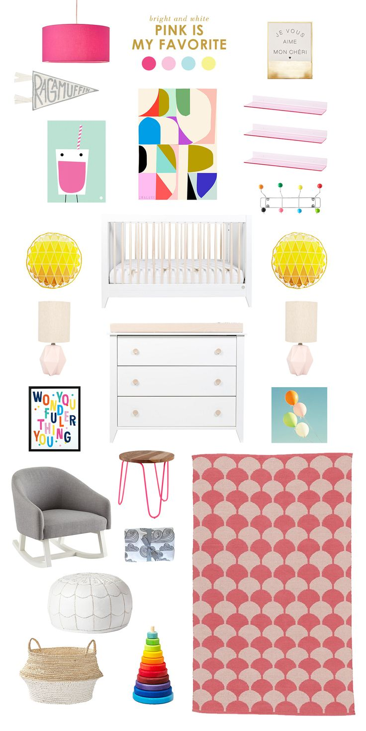 Pink is My Favorite: Some bright and happy inspiration based on the adorable chevron diaper pattern from Honest! #DreamTeam #PinToWin