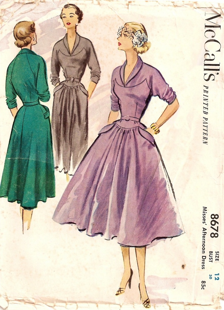 McCalls Sewing Pattern 8678 (1951)