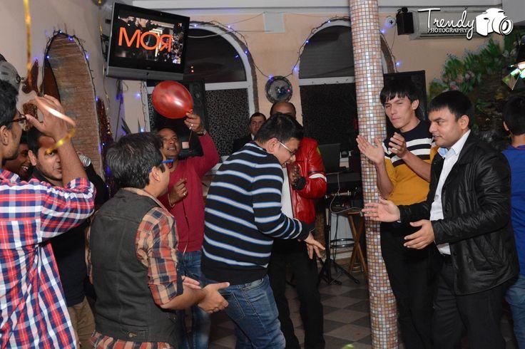 a dance party on deepawali in poltava ,ukraine